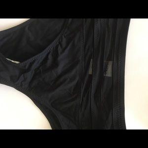 Black high waist swim bottoms NWT